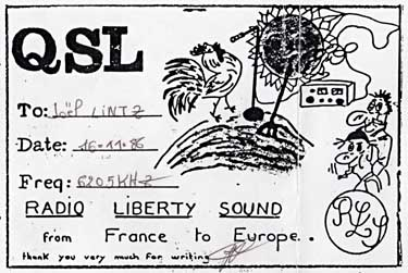 card qsl radio liberty sound pirate sw