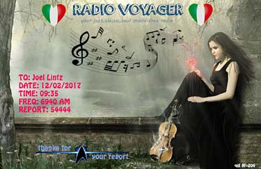 eQSL radio voyager pirate sw shortwaves