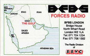 qsl car BFBS Forces radio