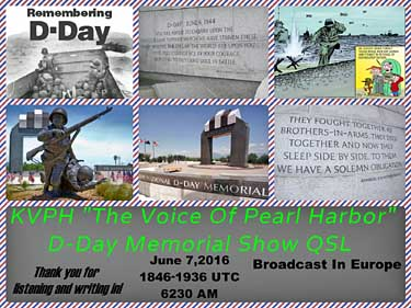 eQSL KVPH Voice of Pearl Harbor pirate radio SW