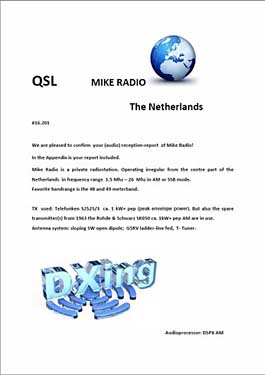 qsl mike radio pirate sw 6170 khz