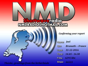 eQSL NMD radio pirate sw
