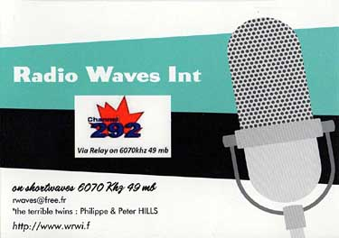 qsl card radio waves international RWI
