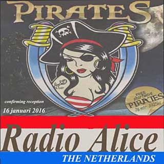 QSL Radio Alice pirate 3905 Khz