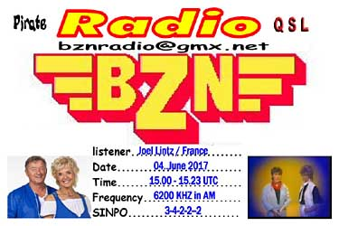 eqsl qsl radio bzn NL pirate radio