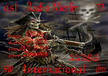 QSL Radio Merlin pirate sw