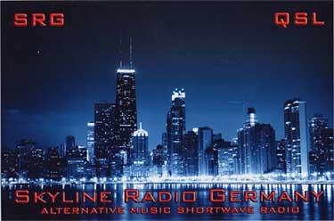 qsl card skyline radio pirate sw