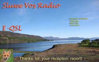 eQSL sluwe  vos radio pirate station NL