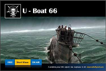 QSL radio U Boat 66 pirate sw