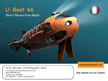eQSL U Boat 66 sw pirate radio