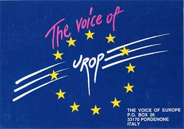 qsl card voice of europe