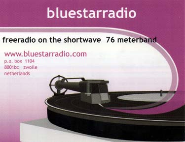 qsl card bluestarradio pirate sw