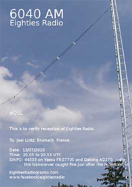 eQSL eighties radio pirate sw