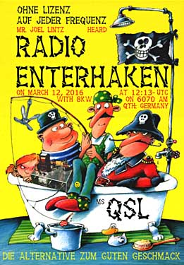 qsl, eqsl radio enterhaken pirate via Channel 292