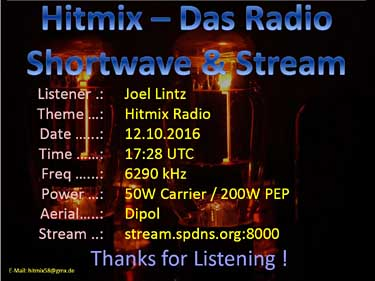 eQSL de Radio Hitmix pirate germany
