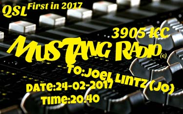 eQSL mustang radio nl pirate sw