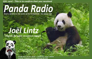 eQSL Panda Radio NL pirate radio