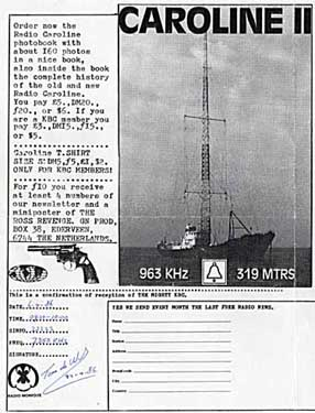 qsl KBC Radio pirate SW