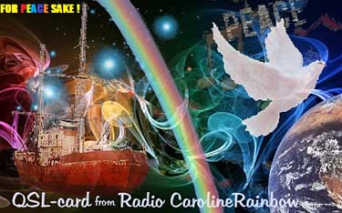 QSL radio Caroline Rainbow pirate SW