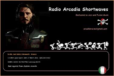 qsl radio arcadia pirate sw