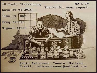 qsl radio astronaut pirate SW ondes courtes
