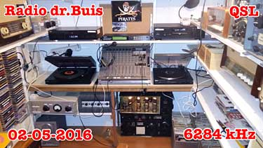 qsl radio Dr Buis pirate SW