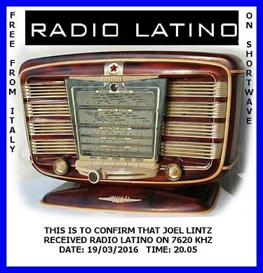 QSL radio latino pirate sw