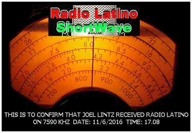 qsl Radio Latino pirate SW Italie