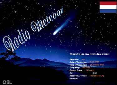qsl de radio meteoor pirate mw om