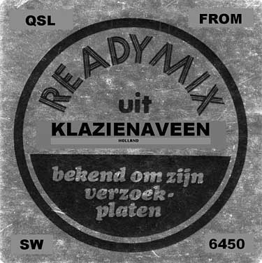 eQSL pirate radio readymix NL non détaillée no detailed