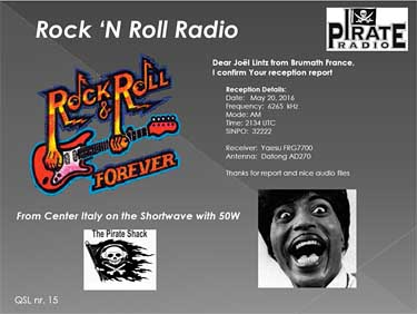 eQSL rock'n roll radio italy pirate radio