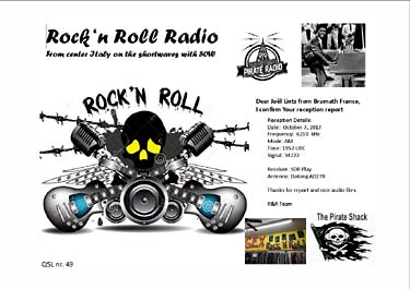 qsl eQSL rock'n roll radio italia pirate