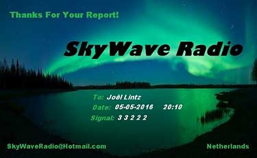 qsl sky wave radio pirate SW