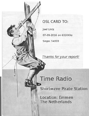 qsl time radio pirate sw nl