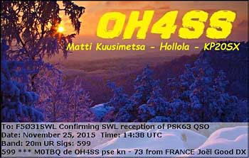 eQSL OH4SS PSK63