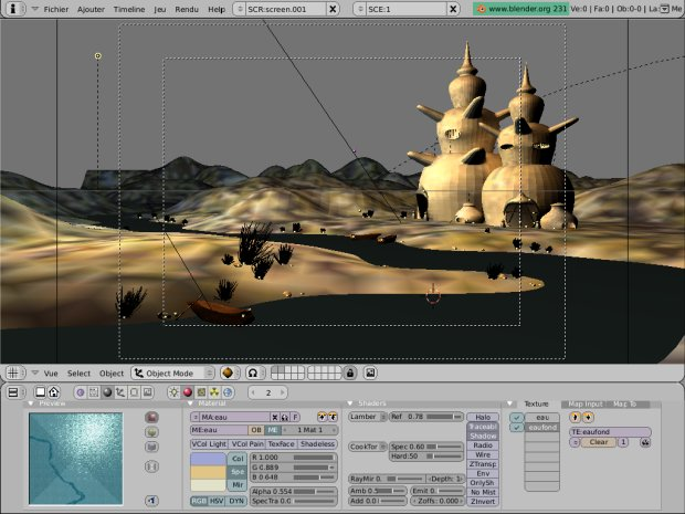 blender 2.31 : interface