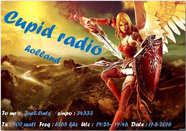 eQSL qsl cupid radio pirate sw holland