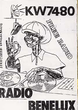 carte qsl de radio benelux pirate