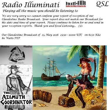 qsl radio illuminati pirate radio clandestine