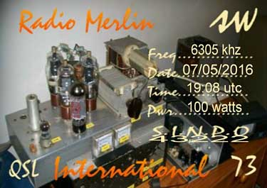 qsl radio merlin international pirate sw