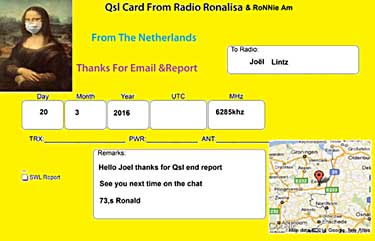 qsl ronalisa radio pirate sw