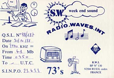 qsl radio waves international