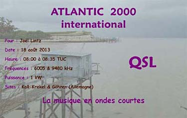 QSL Atlantic 2000 International pirate