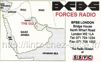 QSL BFBS - Dx Radio