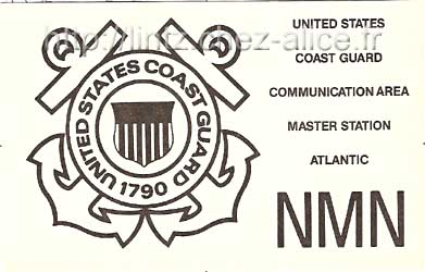 carte QSL NMN Coast Guard