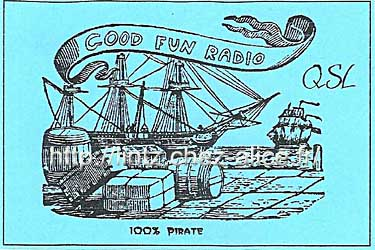 qsl card Good Fun Radio - pirate