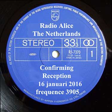 qsl radio alice pirate 3905 khz sw