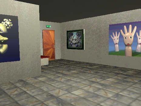 visite virtuelle galerie game blender