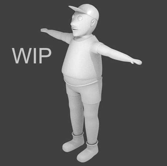 blender personnage perso low poly